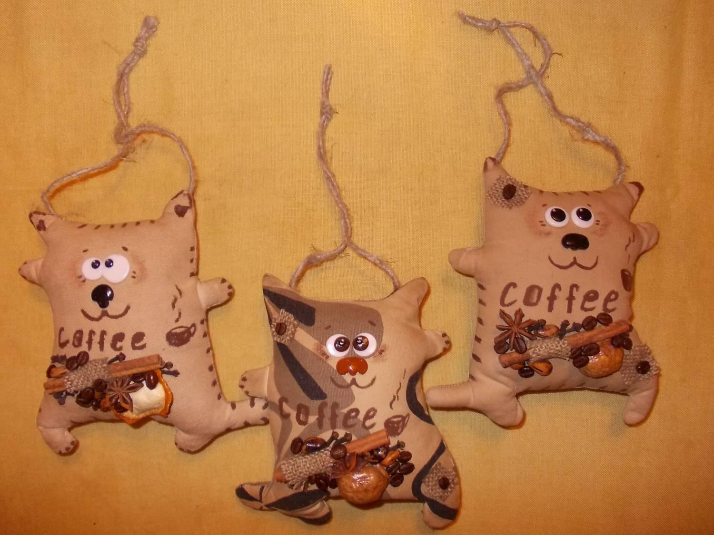 Петухи с ароматом кофе своими руками